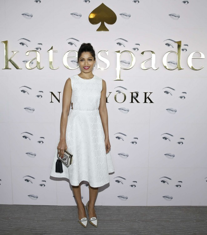 Freida Pinto - Kate Spade Fashion Show 2016 in New York