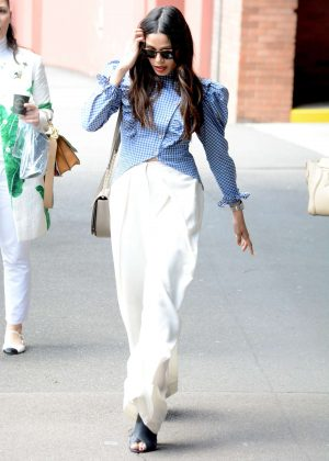 Freida Pinto - Leaves Studio 10 after chatting on the show in Sydney