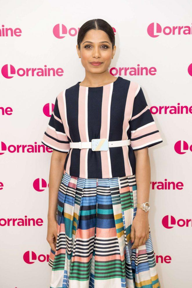 Freida Pinto - 'Lorraine' show in London