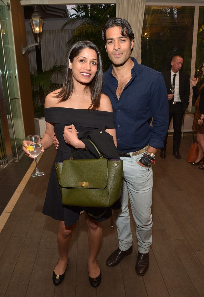 Freida Pinto - 'Younger Skin Starts In The Gut' Book Launch Party in LA