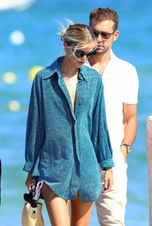 Frida Aasen and Tommy Chiabra in St Tropez at Club 55