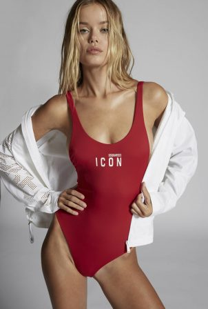 Frida Aasen - Dsquared2 Swimwear and Lingerie 2021