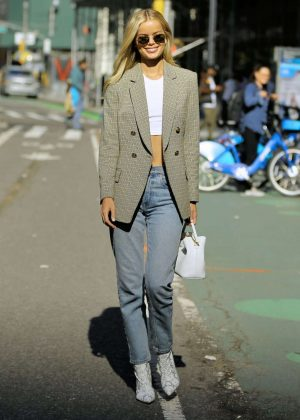 Frida Aasen - Victoria's Secret Fashion Show Fittings in New York