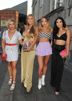 Gabby Allen, Georgia Harrison, Cara De La Hoyde and Tyne-Lexy at the Boohoo Event in Liverpool