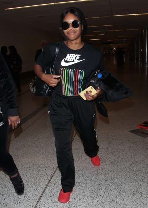 Gabby Douglas at LAX International Airport in Los Angeles
