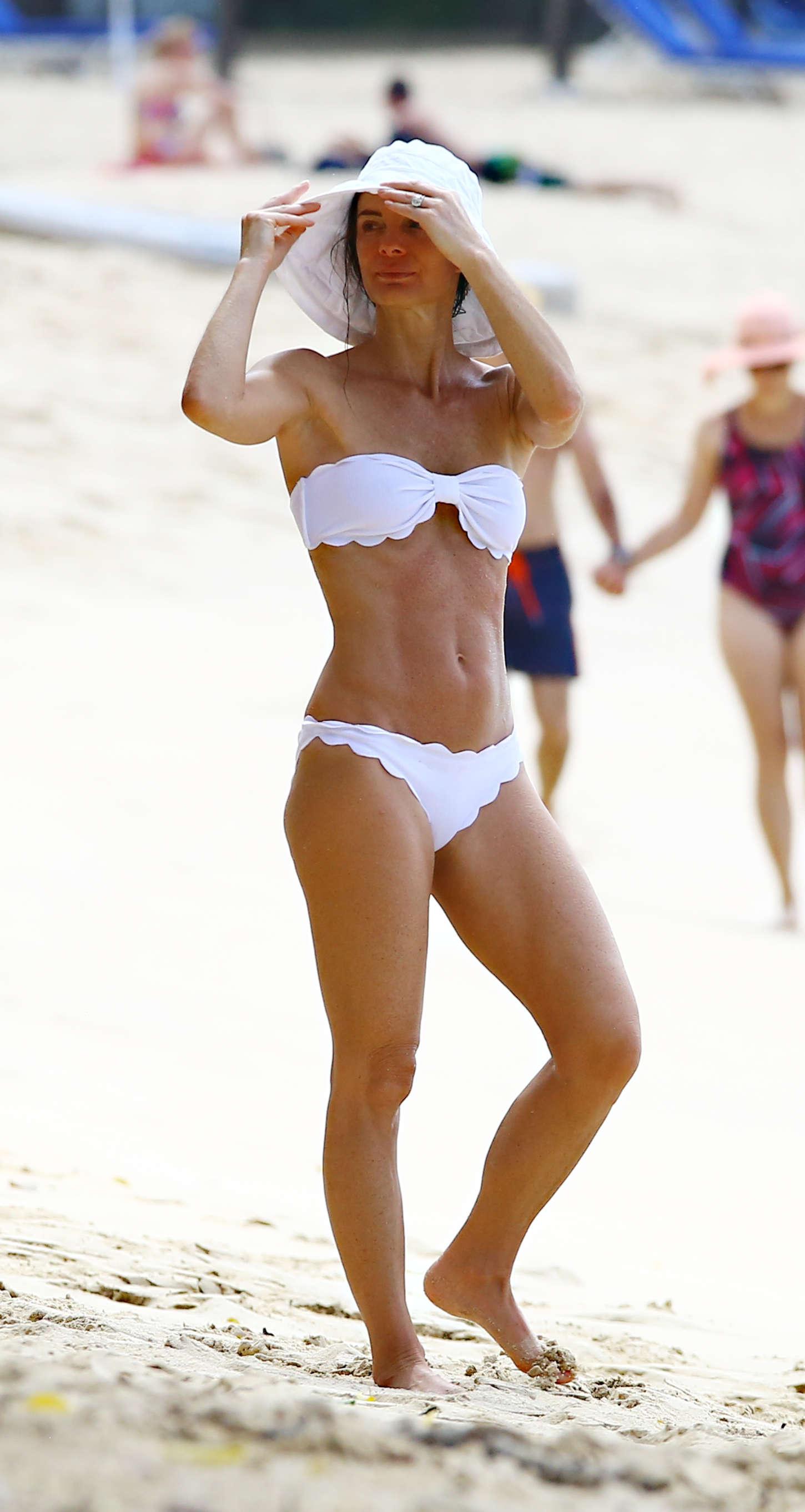 Gabrielle Anwar in White Bikini in Barbados