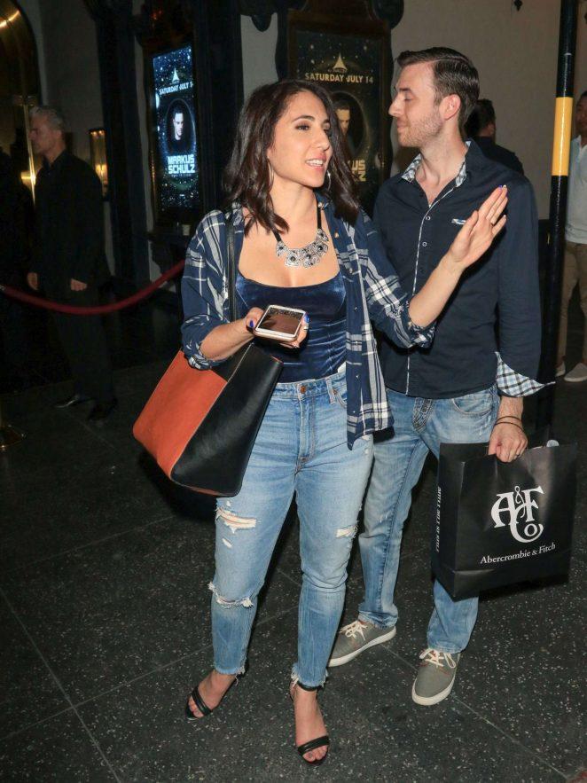 Gabrielle Ruiz in Jeans - Out in California