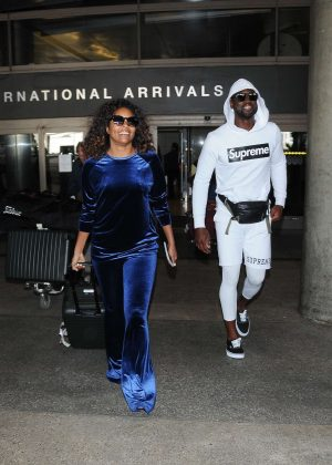 Gabrielle Union and Dwyane Wade at LAX Airport in Los Angeles