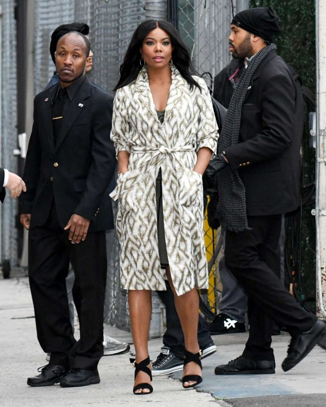 Gabrielle Union - Arriving at Jimmy Kimmel Live! in LA