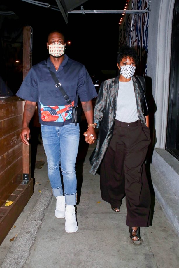 Gabrielle Union - Date night at Craigs in West Hollywood