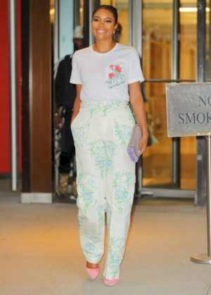 Gabrielle Union Leaving an office building in New York