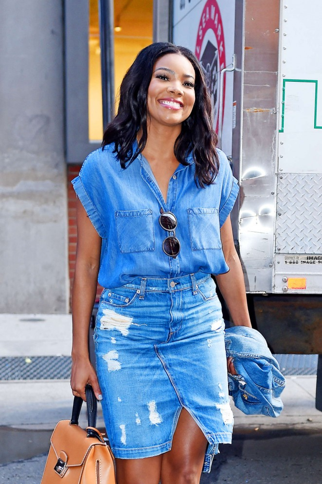 Gabrielle Union - Leaving Milk Studios in NY