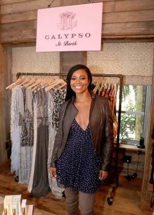 Gabrielle Union: Shopping at the Calypso St Barths Pop Up -05