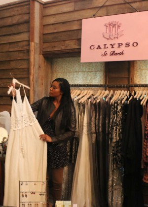 Gabrielle Union: Shopping at the Calypso St Barths Pop Up -09