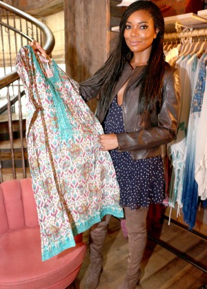 Gabrielle Union: Shopping at the Calypso St Barths Pop Up -13
