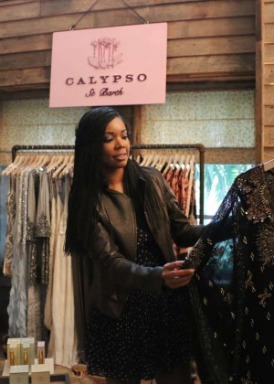Gabrielle Union: Shopping at the Calypso St Barths Pop Up -16