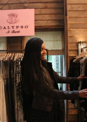 Gabrielle Union: Shopping at the Calypso St Barths Pop Up -18