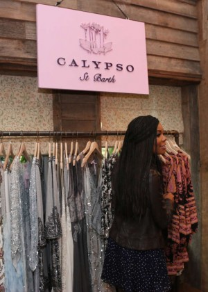 Gabrielle Union: Shopping at the Calypso St Barths Pop Up -22