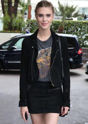 Gaia Weiss in Mini Dress at Martinez Hotel in Cannes