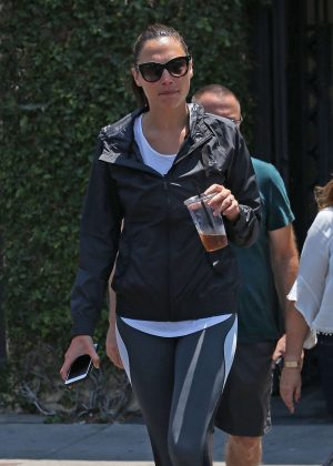 Gal Gadot at Alfred Coffee in West Hollywood