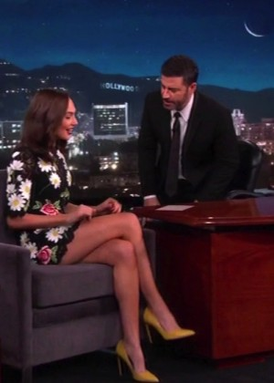 Gal Gadot at 'Jimmy Kimmel Live' in LA