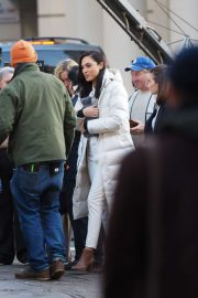 Gal Gadot - Filming a commercial in central London