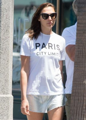 Gal Gadot in Shorts Out in Los Angeles