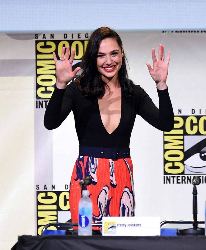 Gal Gadot - 'Justice League & Wonder Woman' at Comic-Con ...