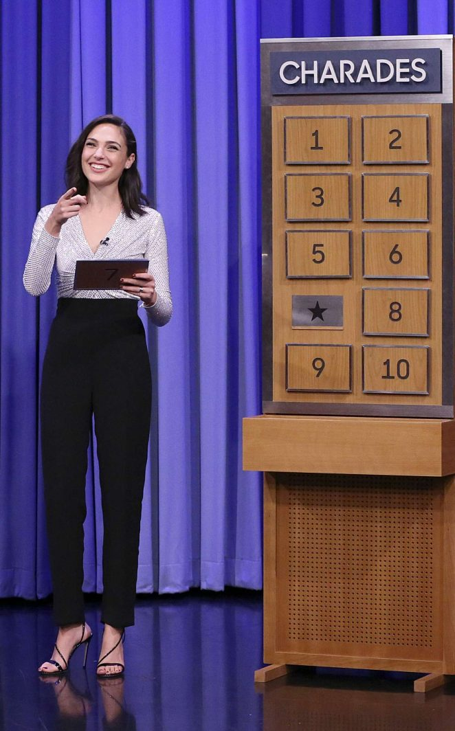 Gal Gadot - Plays 'Charades' on The Tonight Show Starring Jimmy Fallon in NYC