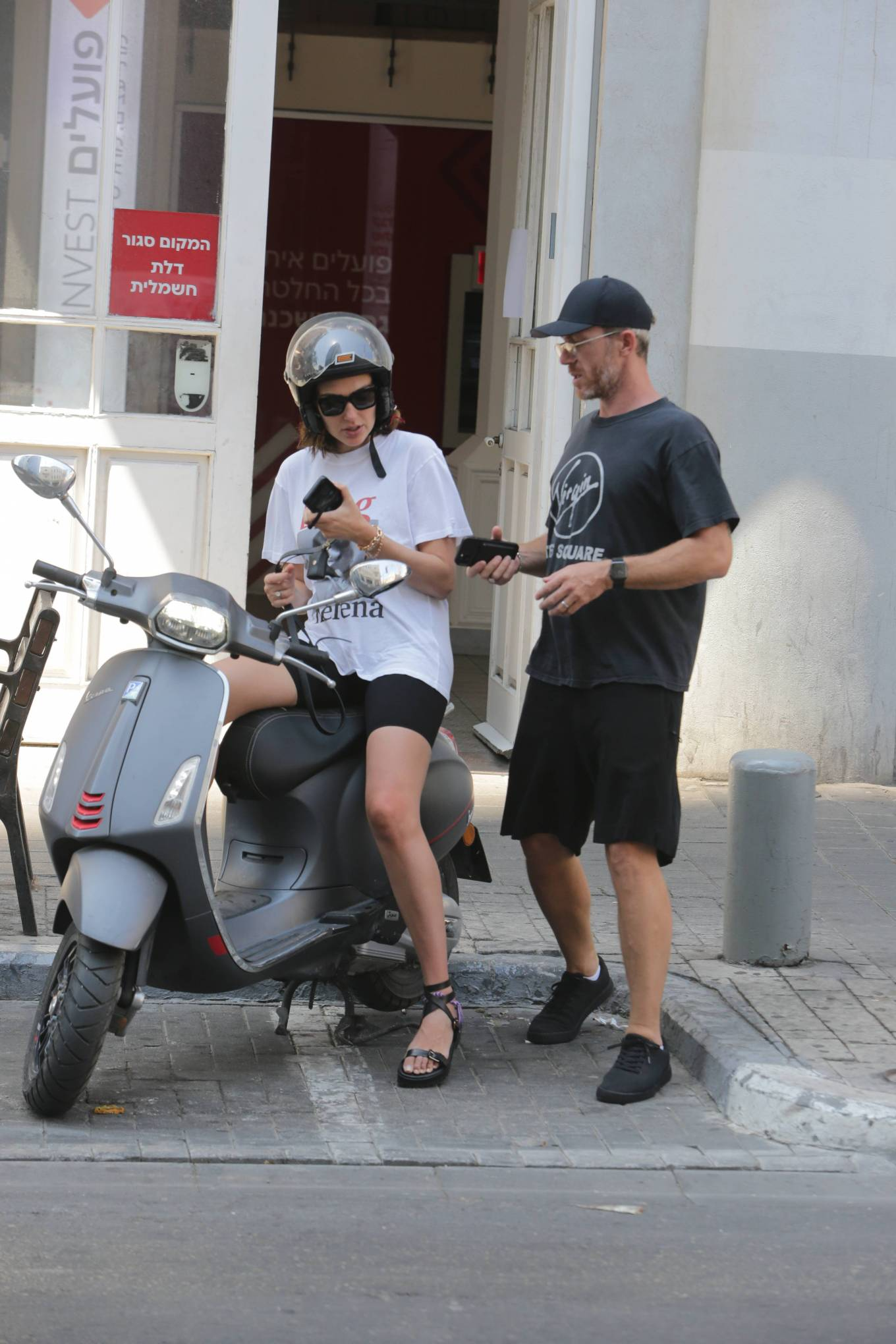 Gal Gadot - Seen on a scooter with husband Yaron Varsano in Tel Aviv