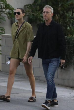 Gal Gadot - With her husband Yaron Varsano seen heading to a meeting in West Hollywood
