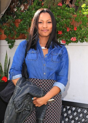 Garcelle Beauvais at Il Pastaio in Beverly Hills