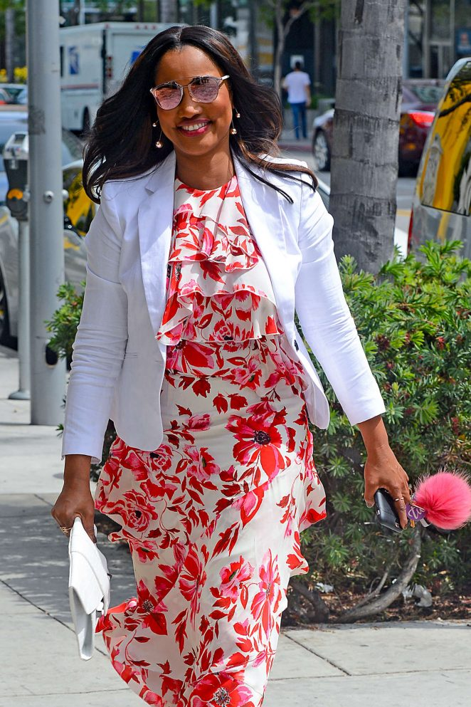 Garcelle Beauvais at SugarFish in Beverly Hills