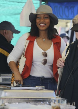 Garcelle Beauvais - Shopping at Farmers Market in Studio City