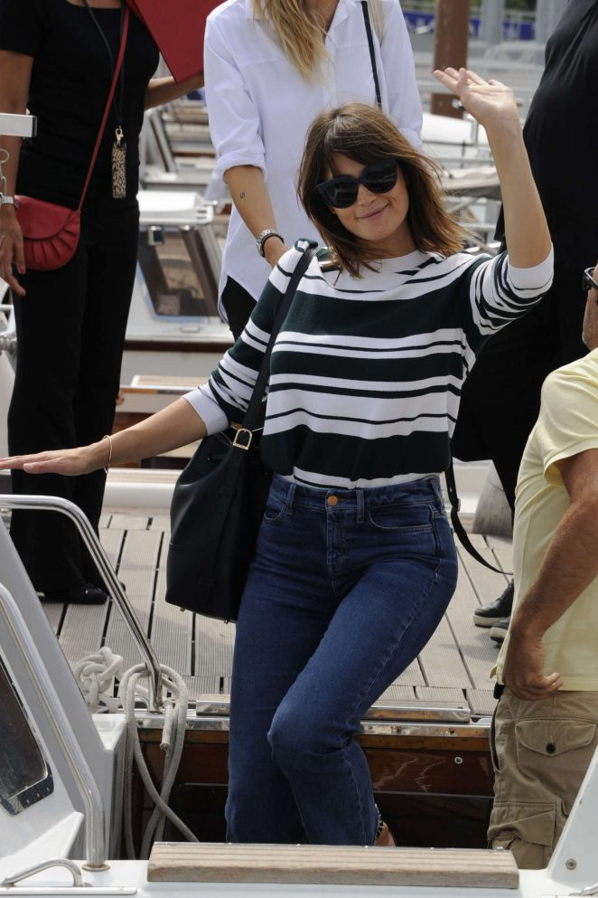 Gemma Arterton: Arriving for the Venice Film Festival -01