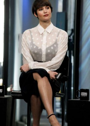 Gemma Arterton at Build Studio to discuss 'Their Finest' in NY