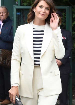 Gemma Arterton at Wimbledon Tennis Day 3 in London