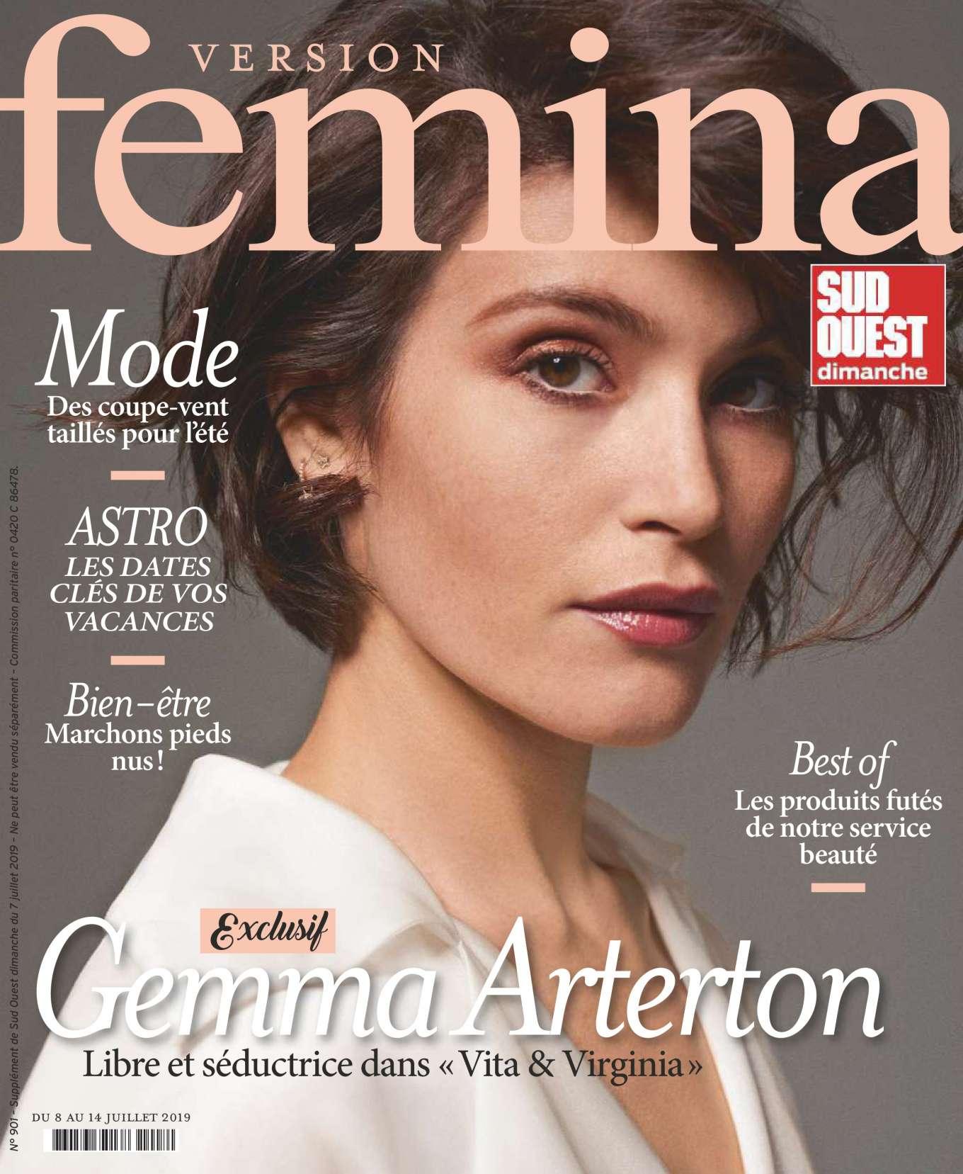 Gemma Arterton - Femina Magazine (July/August 2019)