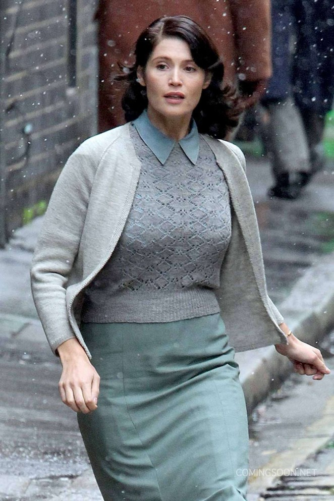 Gemma Arterton - Filming 'Their Finest Hour and a Half' in London