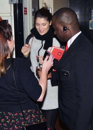 Gemma Arterton - Leaves Adelphi Theatre in London