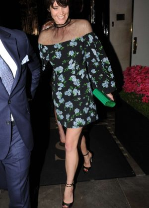 Gemma Arterton - Leaving Scott's restaurant in London