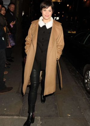 Gemma Arterton - Leaving The Donmar Warehouse in London