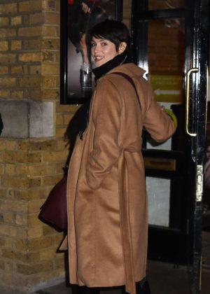 Gemma Arterton - Leaving the Donmar Warehouse in London