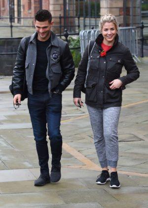Gemma Atkinson and Aljaz Skorjanec - Leaving Key 103 Radio Station in Manchester