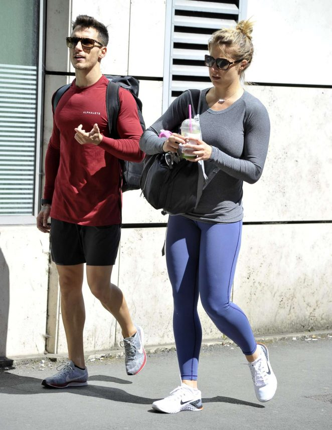 Gemma Atkinson and Gorka - Leave a gym in Manchester