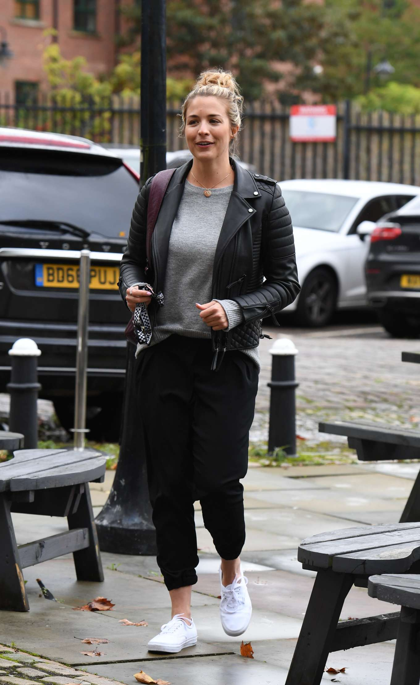 Gemma Atkinson - Arriving at Hits Radio in Manchester
