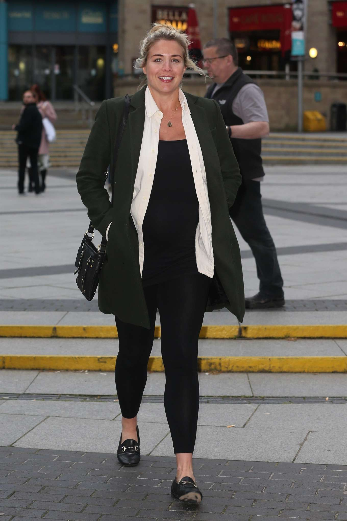 Gemma Atkinson 2019 : Gemma Atkinson :Arriving at The Lowry -03