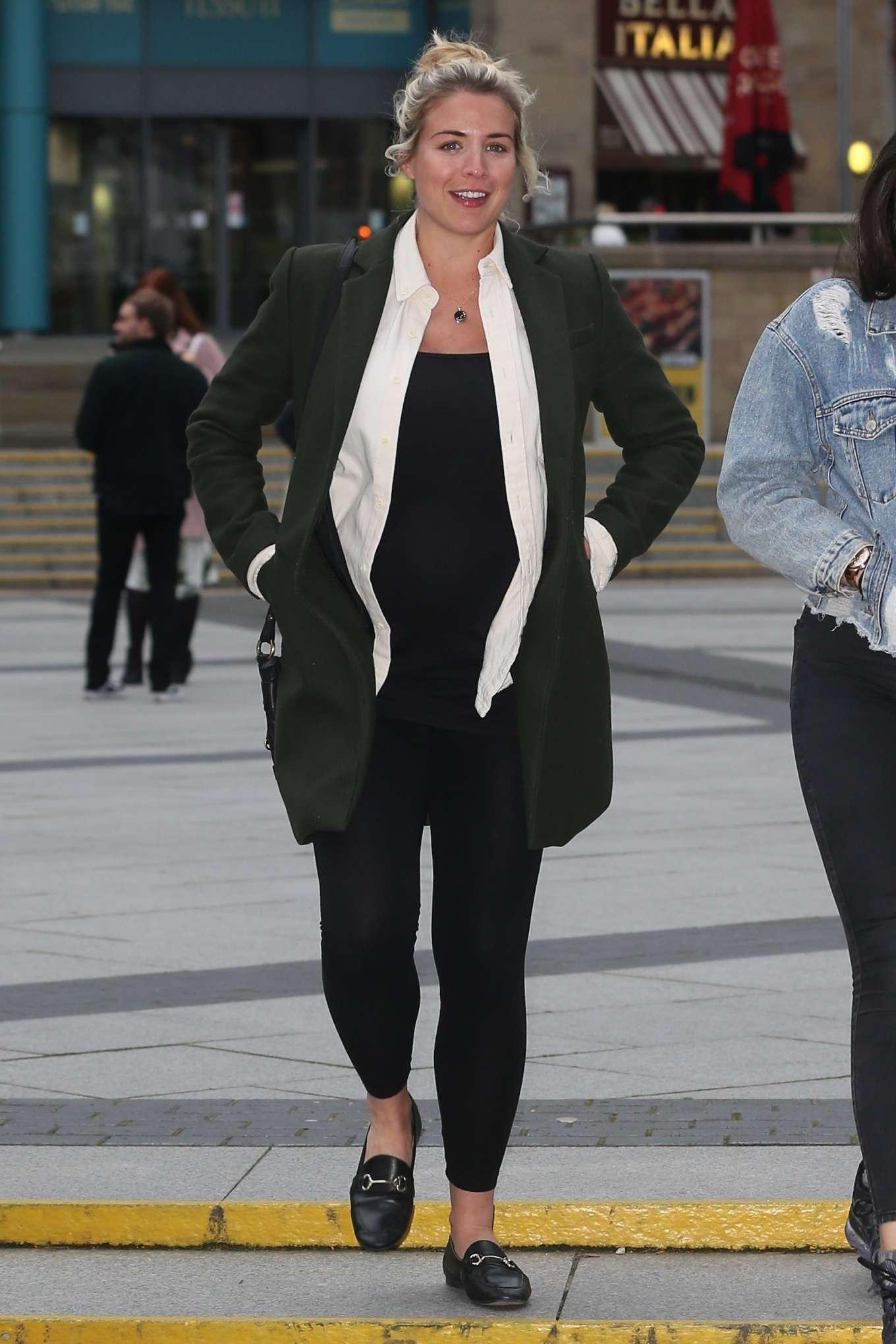 Gemma Atkinson 2019 : Gemma Atkinson :Arriving at The Lowry -06
