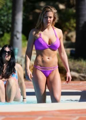 Gemma Atkinson in Purple Bikini in Marbella