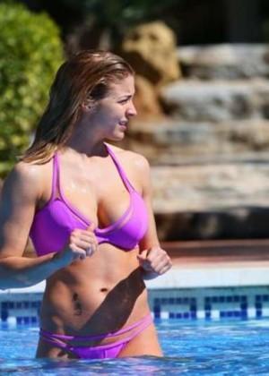 Gemma Atkinson in Purple Bikini 2016 -04